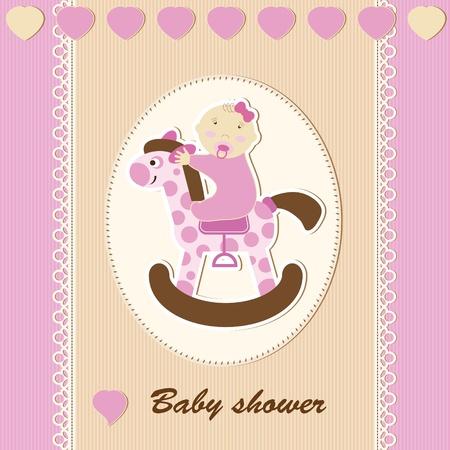 born: Baby shower - girl Illustration