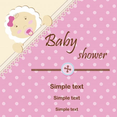 baby girl: Baby shower - girl Illustration