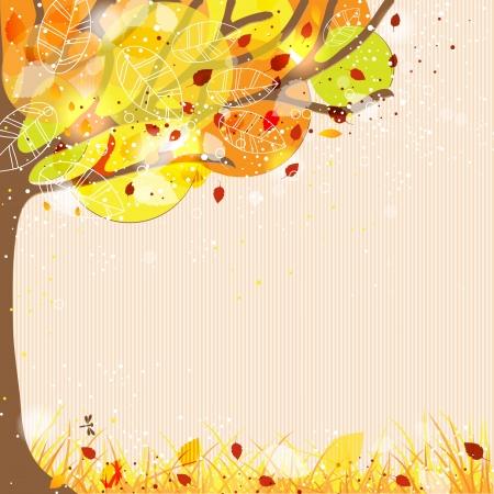 autumn leaf frame: Fondo del oto�o Vectores