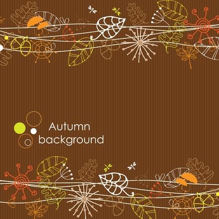 oak tree silhouette: Autumn background