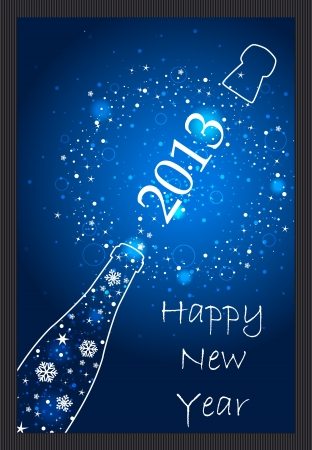 New Year 2013 card Stock Vector - 15559919