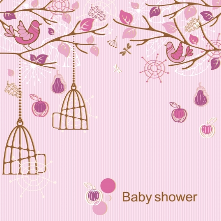 Baby shower - girl Stock Vector - 15559907