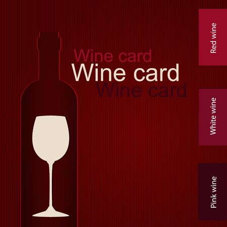 Template of a wine card Stock Vector - 17553132