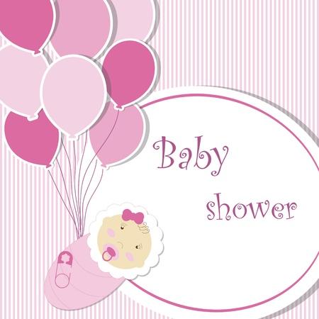 only baby girls: Baby shower - girl Illustration