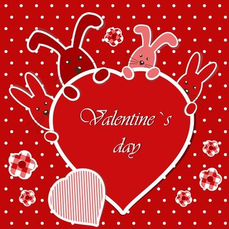i nobody: Valentines card Illustration