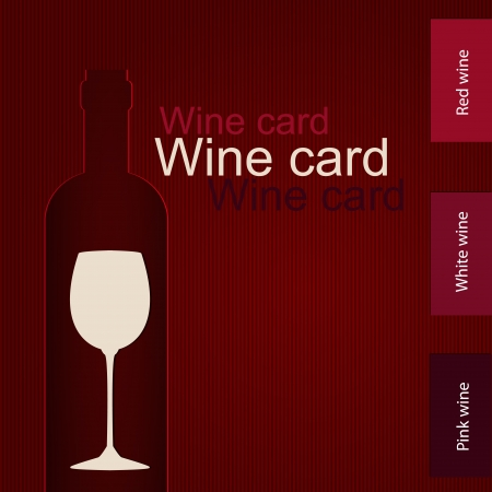 Template of a wine card Stock Vector - 17553148