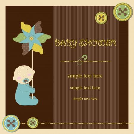 Baby shower - boy Stock Vector - 17553151
