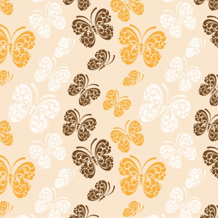 Butterfly seamless pattern Stock Vector - 17758756