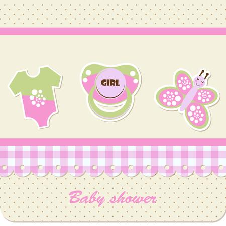 Baby shower - fille Banque d'images - 22765474