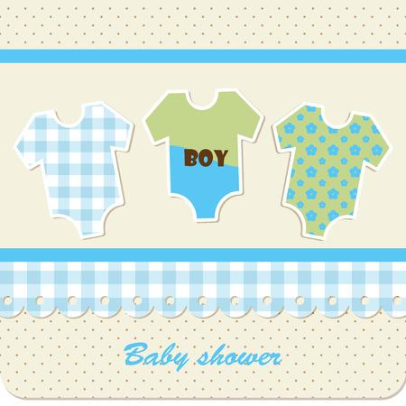 nipple: Baby shower - boy Illustration