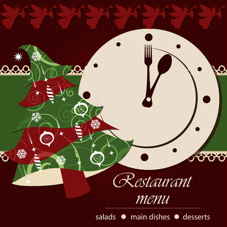 Template of a christmas menu Vector