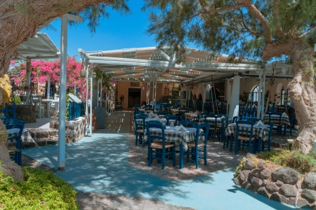 Greek outdoor restaurant