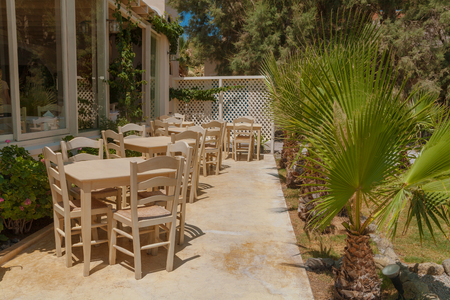 Greek outdoor restaurant photo