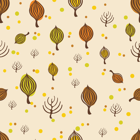 wrapping: Autumn trees pattern for design wrapping paper, scrapbooking, textiles, sites