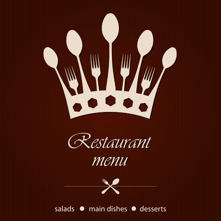 template for a restaurant menu Vector