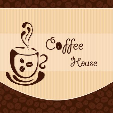 latte art: Template of a cafe menu