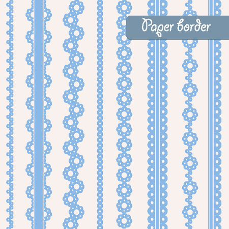 baby border: Baby shower set of border for design of  paper, cards. For boy