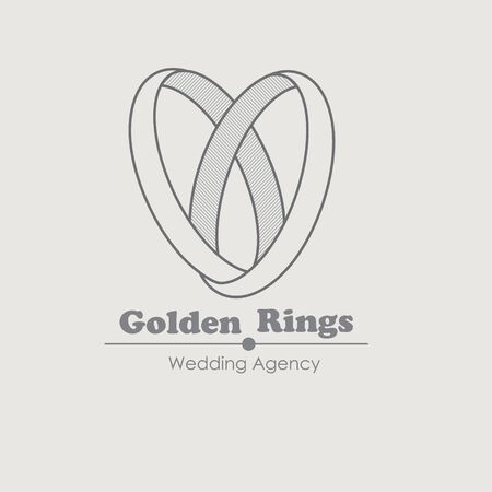 ring: Jewelry vector design template with ring. For wedding agency and Jewellery shop. Jewelery rings wedding idea. Luxury symbol. Creative icon.
