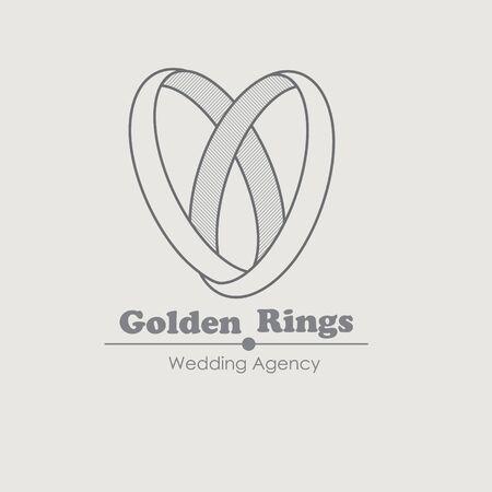 anillo de boda: Joyería vector plantilla de diseño con el anillo. Para la agencia de boda y tienda de joyería. Anillos joyería idea de la boda. Símbolo de lujo. Icono de Creative.