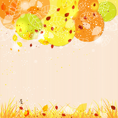 text books: Autumn template background with abstract tree for design cards, invitations and books. There is a place for your text