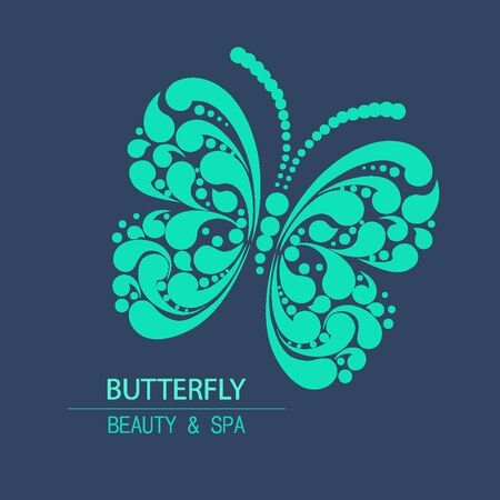 beaut� esthetique: Vector butterfly for design organic cosmetic, beauty company and greeting cards.  Flat icons