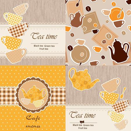 design frame: Set of restaurant template menu Illustration