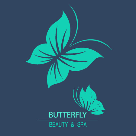 beauty products: Vector logo butterfly for design organic cosmetic, beauty company and greeting cards.  Flat icons