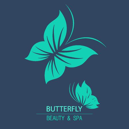 beaut� esthetique: Vector logo papillon pour la conception cosm�tique bio, compagnie de beaut� et de cartes de v?ux. Ic�nes plates