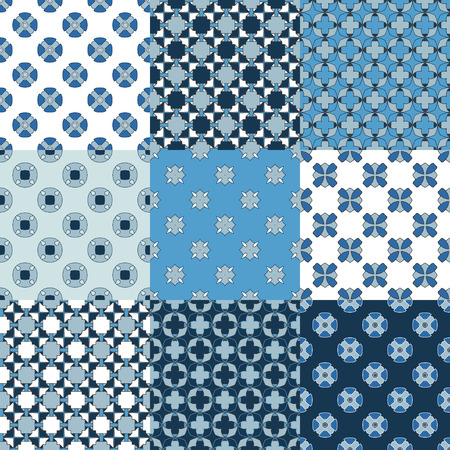 scrap book: Set of hand draw geometrical seamless for design scrap book paper, textile, web sites, pattern fills