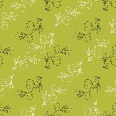 scrap book: Seamless pattern olive seamless  in outline style for design scrap book paper, textile, web sites, pattern fills