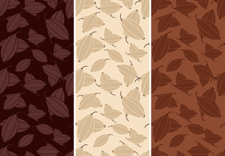 Vector set of seamless pattern for chocolate and cocoa packaging. Reklamní fotografie - 53052064