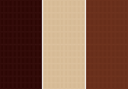 cocoa: Vector set of seamless pattern for chocolate and cocoa packaging.