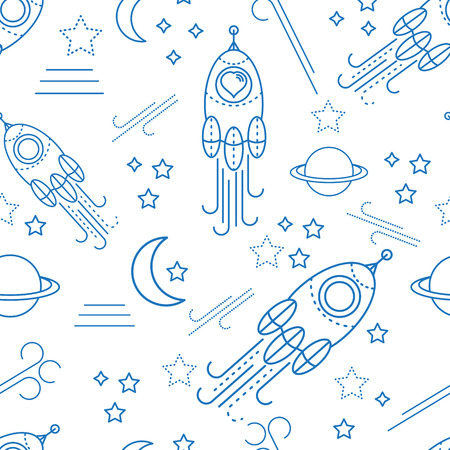 scrap: Baby shower seamless pattern for boy. For design of cloth, scrap booking paper, cards Illustration
