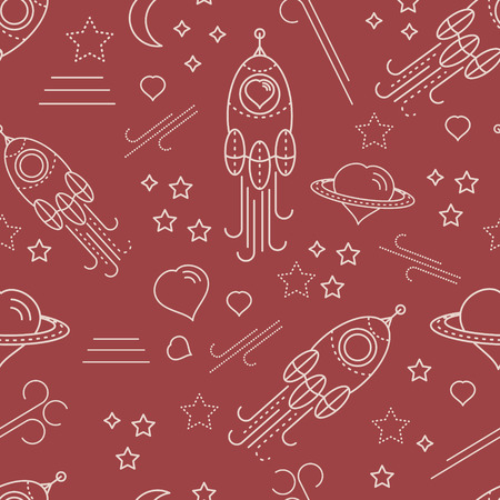 scrap booking: Baby shower seamless pattern for girl. For design of cloth, scrap booking paper, cards