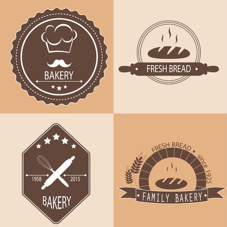 baked goods: Set of bakery logos, labels, badges for design fresh baked goods