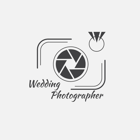 photography icon: Vector of photography logo template. Photography Logo and icon Illustration