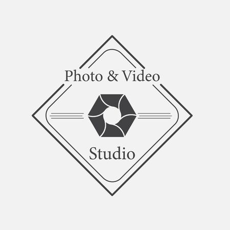 photography logo: Vector of photography logo template. Illustration