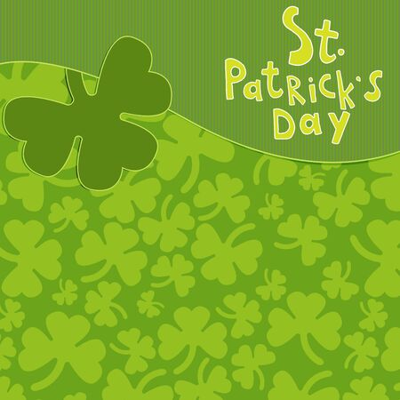 Saint Patricks Day greeting card Illustration