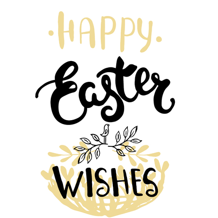 Easter greeting card - Happy Easter wishes.