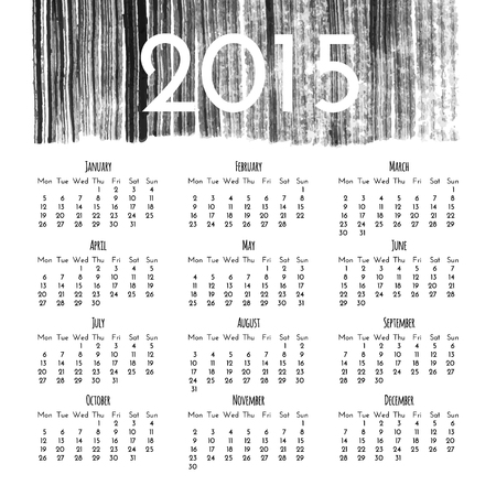 Calendar 2015 vector design template Vector