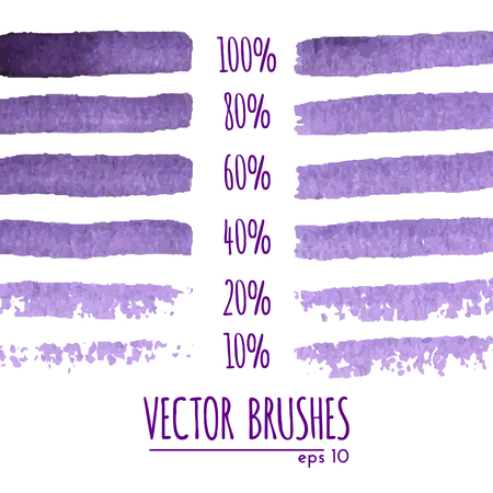 brushes collection on white background Vector