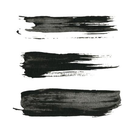グランジ ペンキ黒インク ブラシ背景