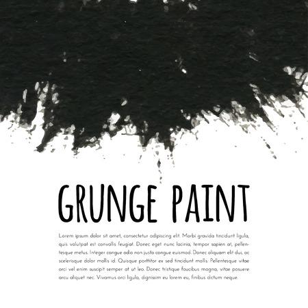 black ink: Grunge paint black ink background