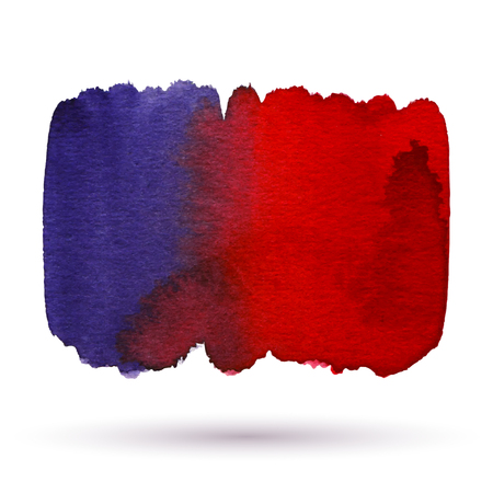 red and blue: watercolor red, blue abstract background