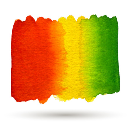 jaune rouge: aquarelle rouge, jaune, vert abstrait