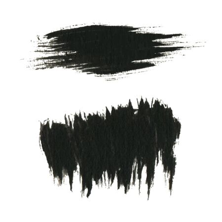 black ink: Grunge paint black ink brush background