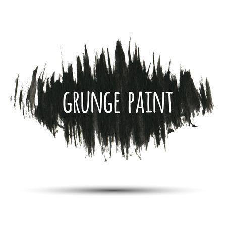 black grunge background: Grunge paint black ink background