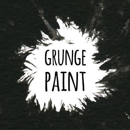 Grunge paint black ink background