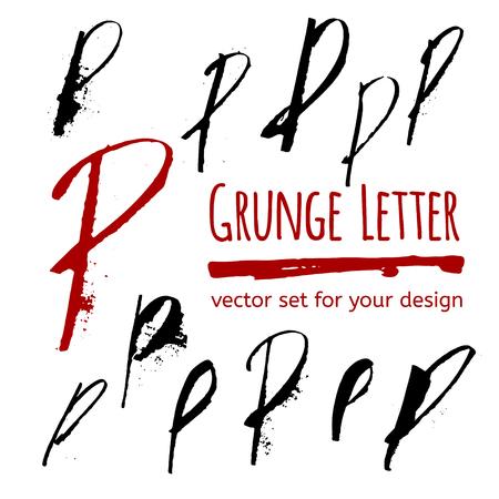 kifejező: Kifejező kalligráfia tinta írni a pacák és fröccsenő. Vector meg a tervezési