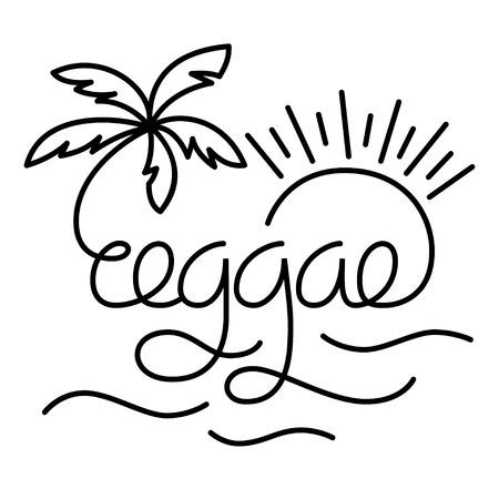 reggae: Affiche de lettrage de style moderne de reggae. Vecteur isolé typographie pour votre conception.